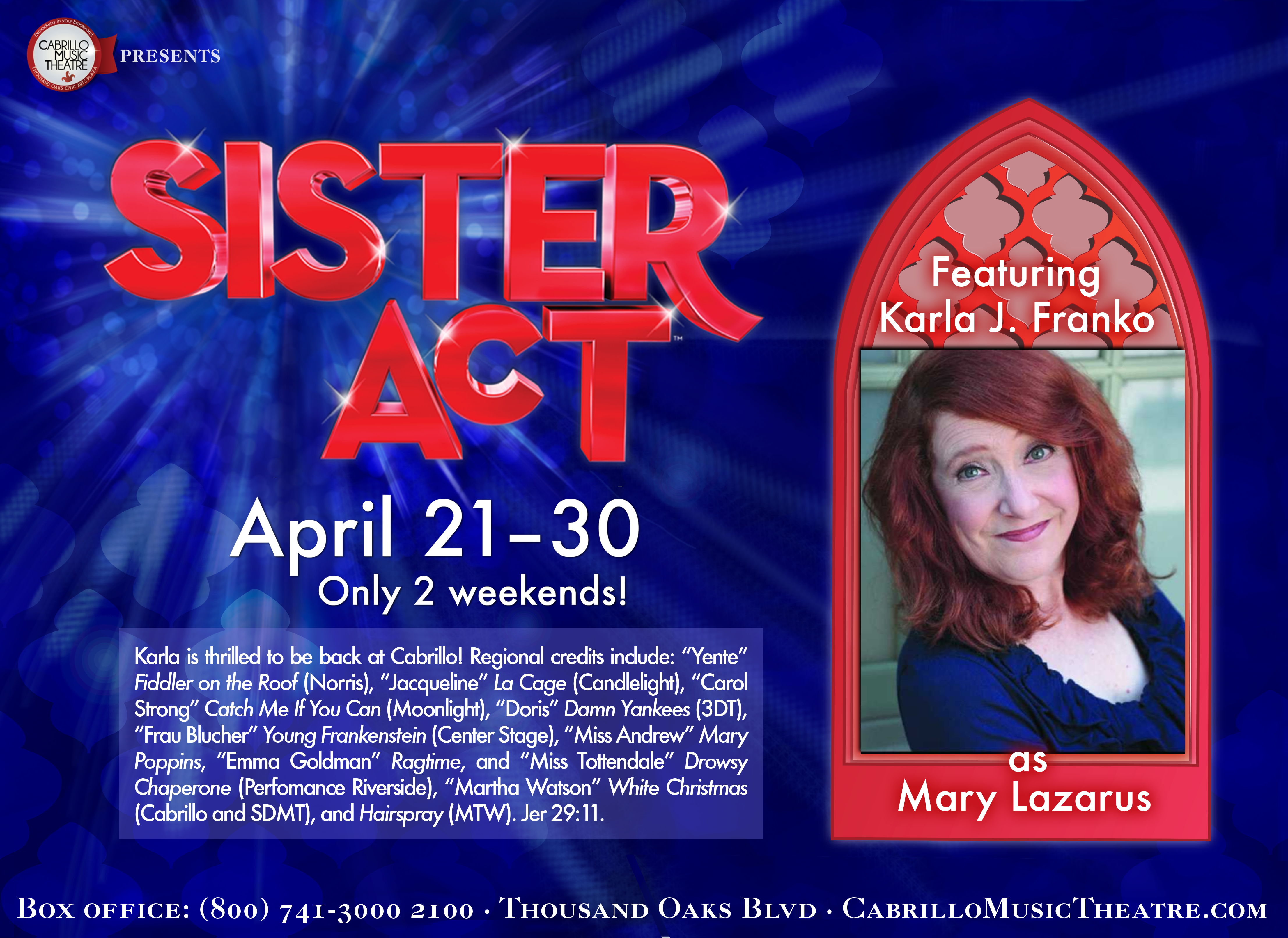 Sister Act Cast Card