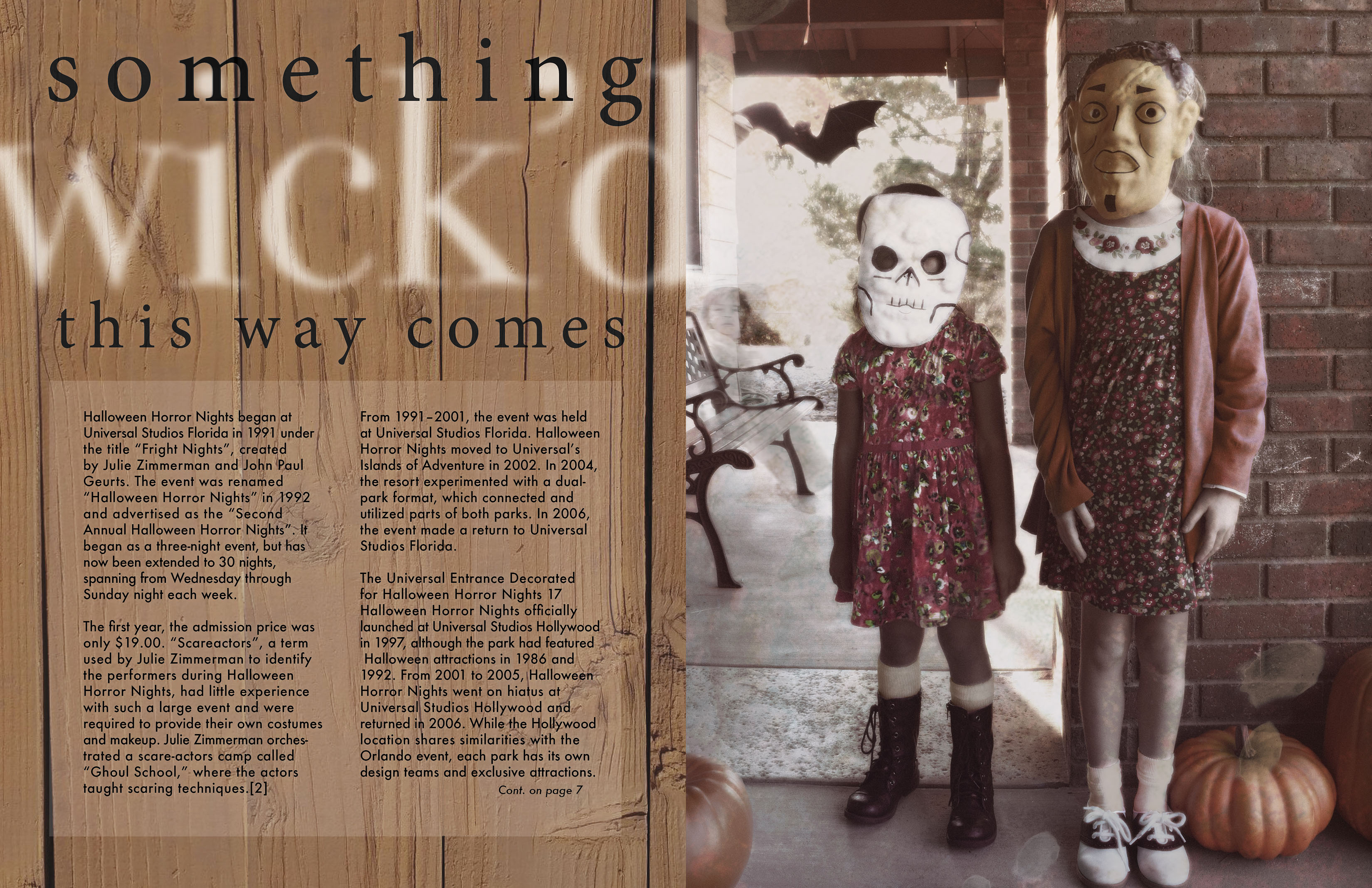 Halloween Magazine spread with original photography